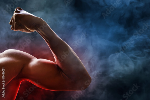 Man arm muscle Canvas Print