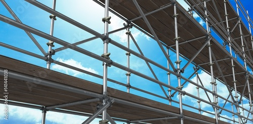 Obraz na płótnie Composite image of 3d image of construction scaffolding