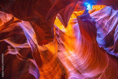 Spoed Foto op Canvas Canyon Antelope Canyon in Arizona