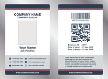 Simple Employee Business Name Card Template Vector