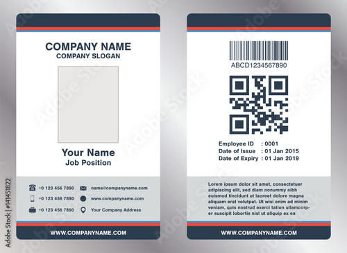 Simple employee business name card template vector buy this stock simple employee business name card template vector cheaphphosting Images