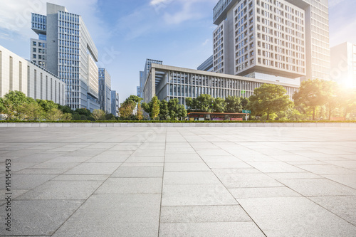 Fototapety, obrazy: Empty floor with modern business office building