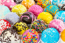 Different Colorful Cake Balls ...