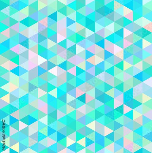 Zdjęcie XXL Mozaika trójkątna jasnoniebieska