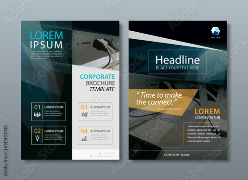annual report brochure flyer design template vector leaflet cover