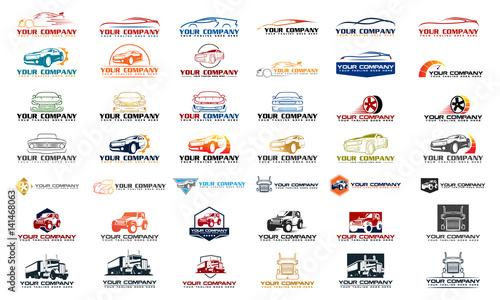 Fototapeta Set vector car logo, set vector automotive logo, set car logo collection, set car logo template obraz