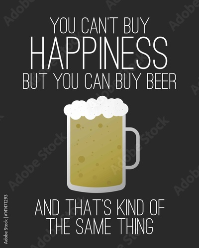 you-can-not-buy-happiness-but-you-can-buy-beer-bialy-napis-z-kuflem-piwa-na-ciemnym-tle