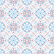 Flower Pattern Blue Background Boho