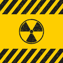 Danger Sign With Dirty Texture. Isolated.