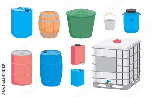 Containers for liquid Wallpaper Mural