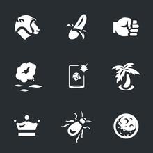 Vector Set Of Monkey Icons.