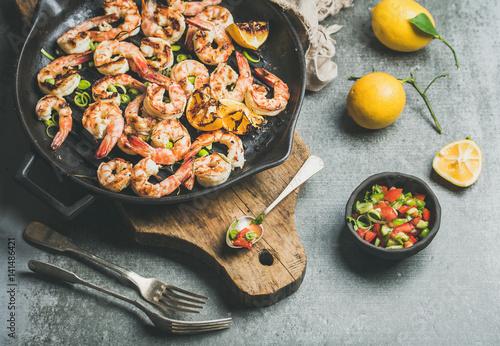Seafood dinner Canvas Print