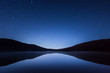 Leinwandbild Motiv 湖と星空