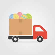 Delivery Truck With Colorful D...