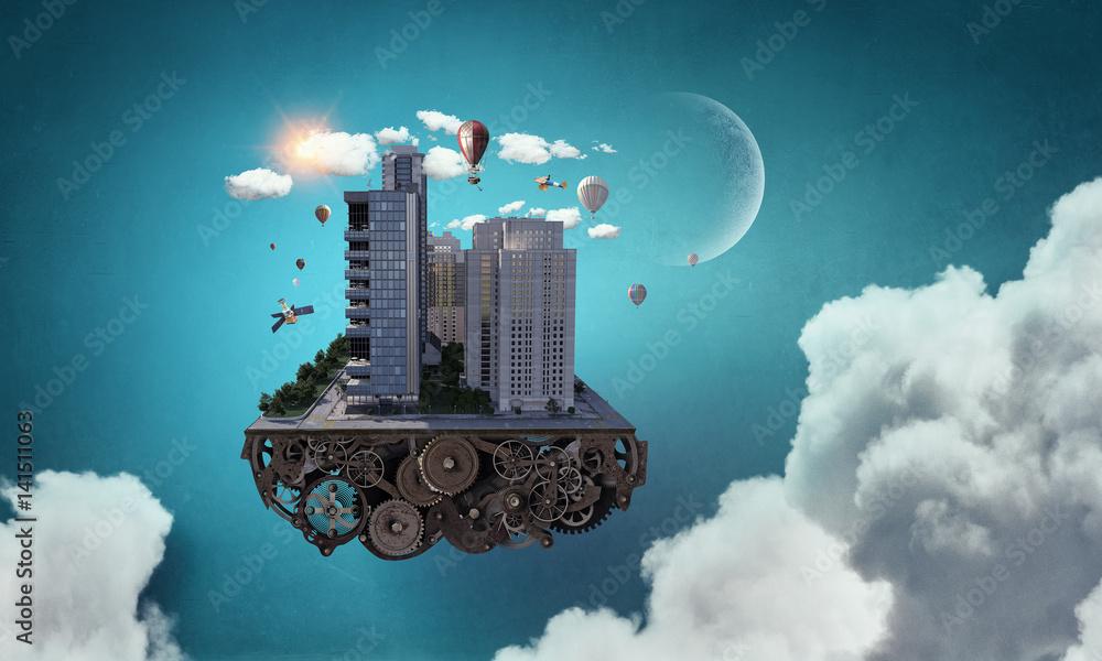 Fototapety, obrazy: Mini city design . Mixed media