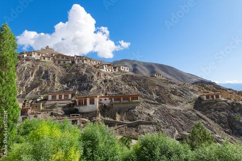 Lamayuru Gompa Ladakh, village houses,Tibet, Northern India Canvas Print