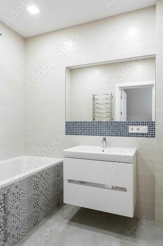 Fototapeta interior of a modern bathroom obraz na płótnie