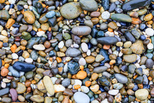 Sea Stones Background. Stones On Beach. Stone Texture.