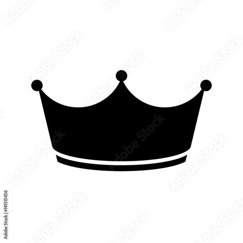 Valokuvatapetti Schwarzes einfaches Symbol - Krone - Prinz - Luxus