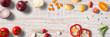 Low Carb / gesunde Ernährung / Gemüse - Banner/ Textfreiraum