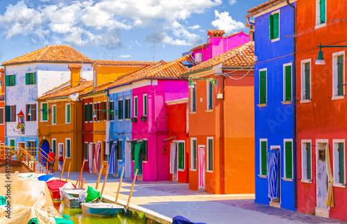 Street of island Burano Fototapeta