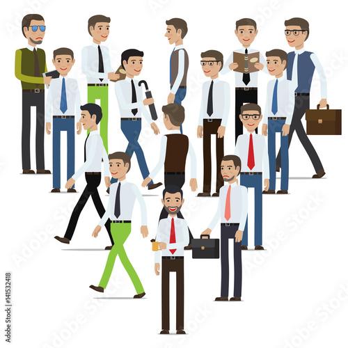 Fotografie, Obraz  Businessmen Cartoon Characters Vector Collection