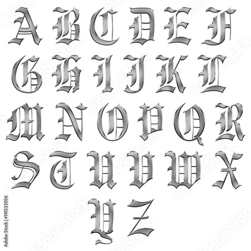 Medieval alphabet lettres gothique gothic metal buy this stock medieval alphabet lettres gothique gothic metal thecheapjerseys Choice Image