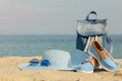 Blurry photo - sea concept. Relax on the beach.