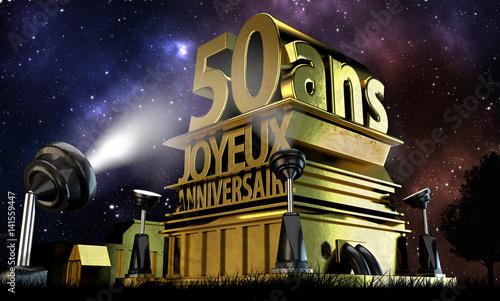50 Ans Joyeux Anniversaire Acheter Cette Illustration Libre De