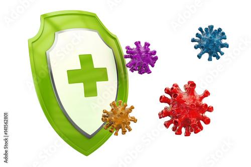 Fotografía  Antibacterial or antivirus shield, healthcare concept