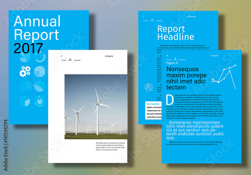 interactive annual report layout  buy this stock template