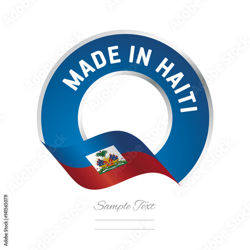 Made In Haiti Flag Blue Color Label Logo Icon Buy This Stock