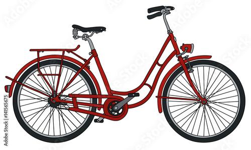 Plakaty rowery  klasyczny-czerwony-rower