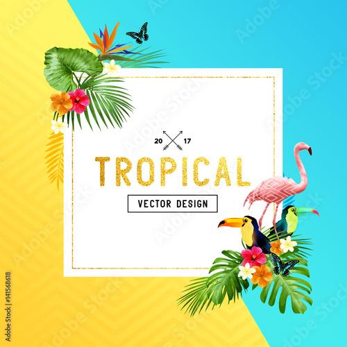 Valokuvatapetti tropical Border Design