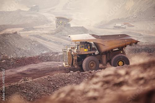 Fototapeta Mining Activity, mining dump truck
