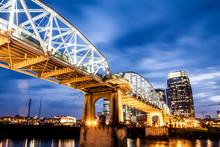 The John Seigenthaler Pedestrian Bridge In Nashville, Tennessee