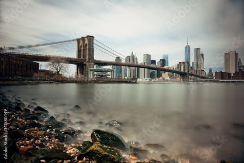 Brooklyn Bridge and downtown Manhattan Canvas Print