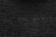 black brick wall pattern background