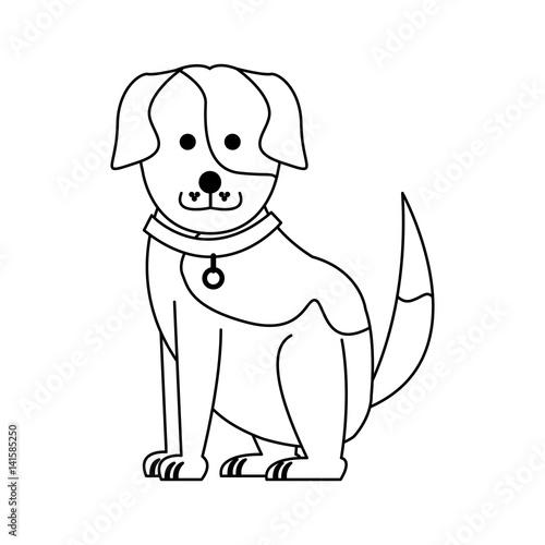 Poster Dogs cute dog cartoon icon image vector illustration design