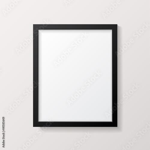 Fotografía  Realistic Empty Black Picture Frame