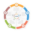 Circle Infographic Template with Five Elements