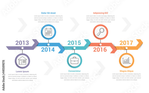 Photo  Timeline Infographics
