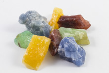 Pile Of Colorful Calcite Crystals