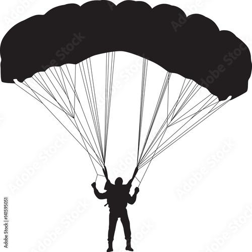 Fotografie, Obraz  parachutist silhouette vector
