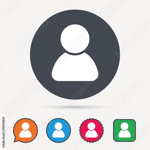 User Icon Human Person Symbol Avatar Login Sign Circle Speech