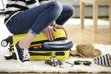 Preparation Travel Suitcase At...