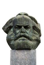 Karl Marx Kopf In Chemnitz Isoliert