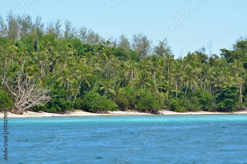 Spoed Foto op Canvas Eiland Landscape of a remote tropical beach in Nanuya Levu island Fiji