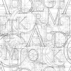 Tapeta font seamless white