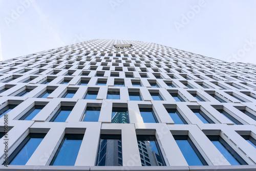 Türaufkleber Darknightsky City Image - Universal basic modern business building skyscrapers